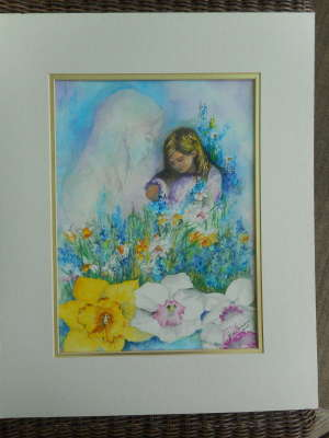 Momma Loved Flowers, Watercolour, 18 X 24 (framed: 22 X 30), $$0.0000