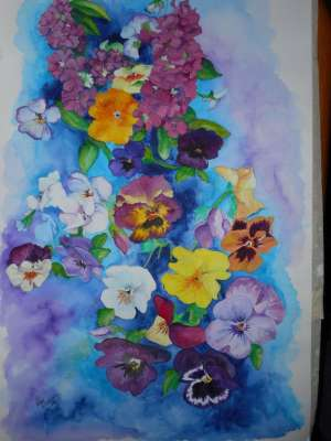 Spring Joy, Watercolour, 16 X 18 (framed: 21 X 27), $$0.0000