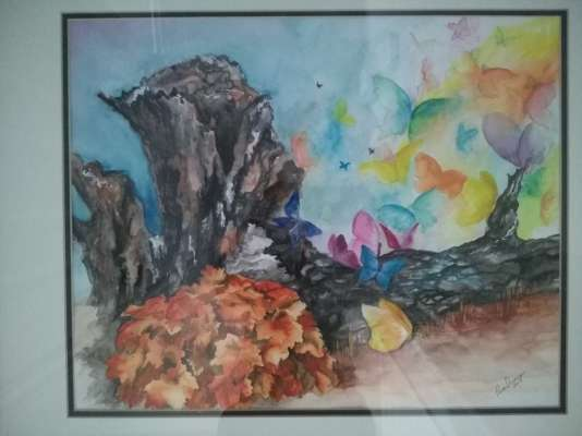 Flying Rainbows, Watercolour, 16 X 22, $$325.0000